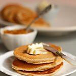Amaranth Porridge Pancakes with Vanilla Butter & Pumpkin Jam