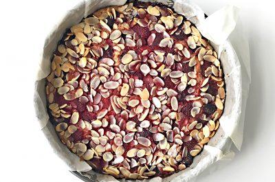 Strawberry Almond Love Cake (Gluten Free)